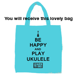 Be Happy And Play Ukulele Bag