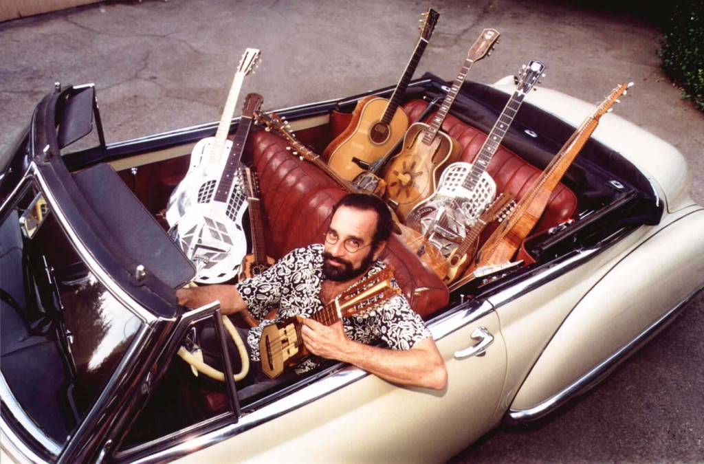 Bob Brozman, legendary player of stringed instruments.