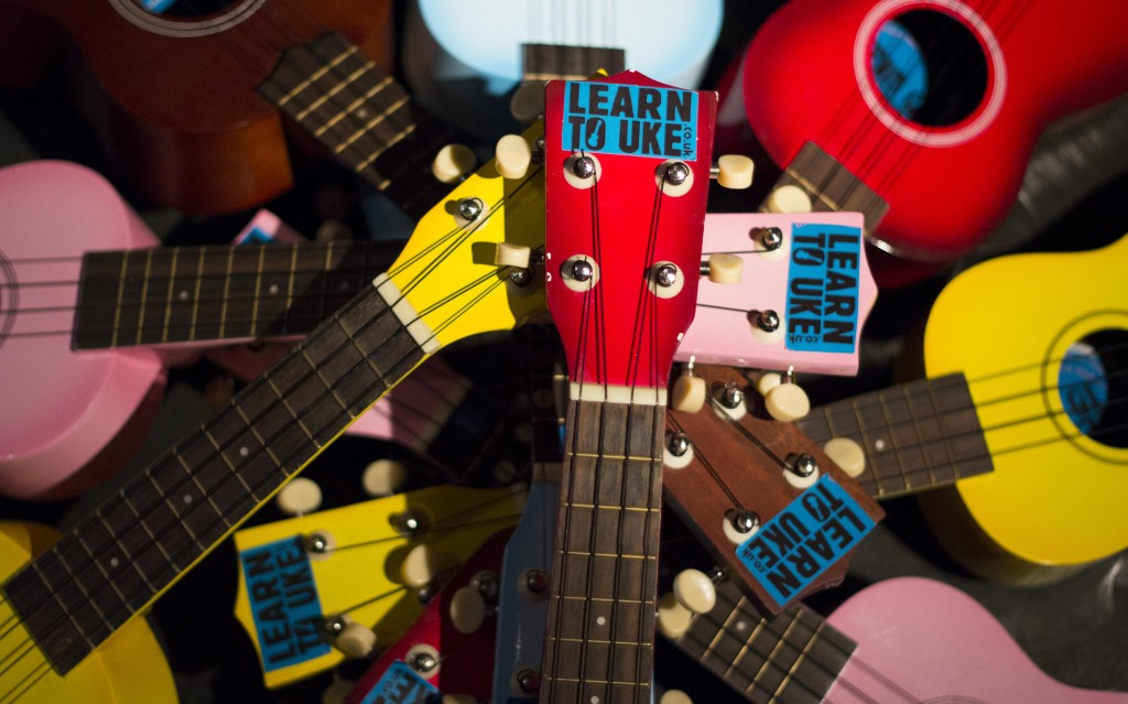 The finely-tuned ukuleles, all ready for the next fun-filled taster session!