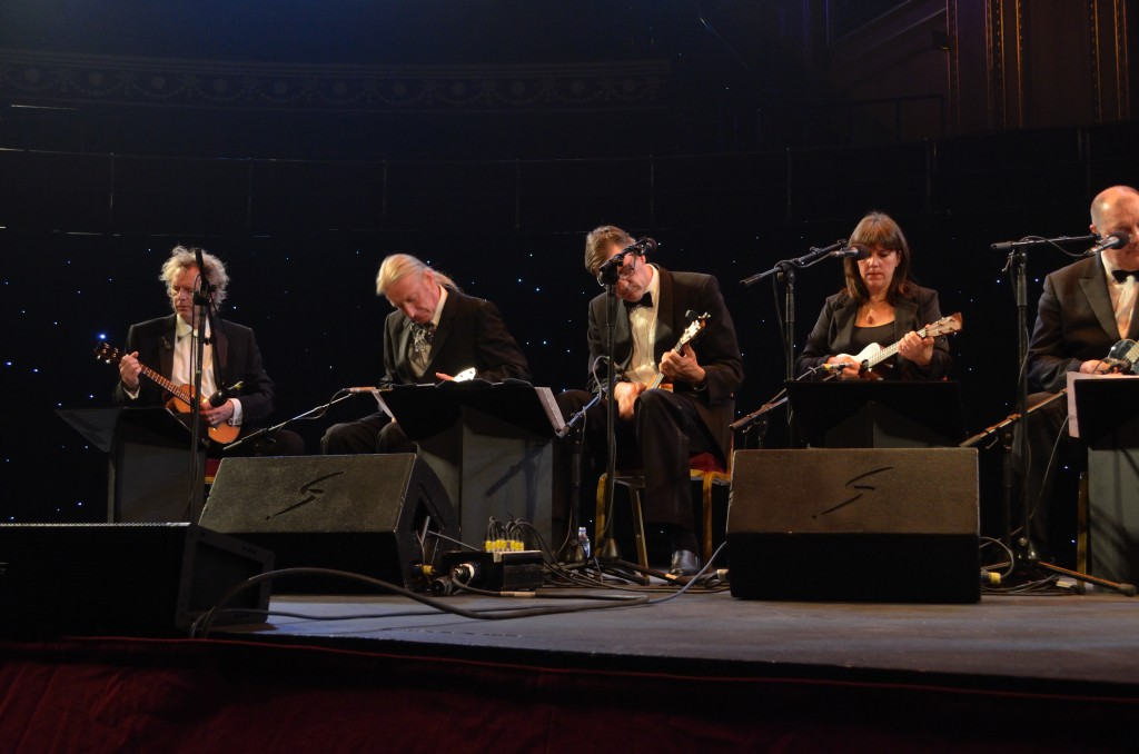 Awesome Andy Astle, Playing at the Royal Albert Hall with The Ukulele Orchestra of Great Britain.