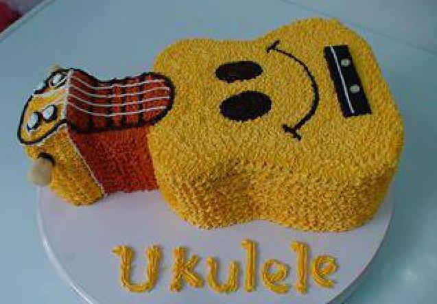 Ukulele Cake