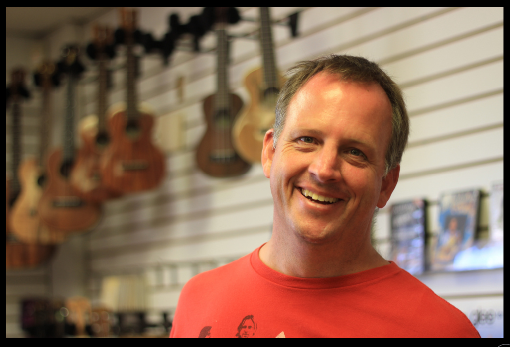 Jason at Lahaina Music on Maui