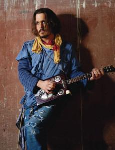 Johnny Depp 'Playing' Ukulele