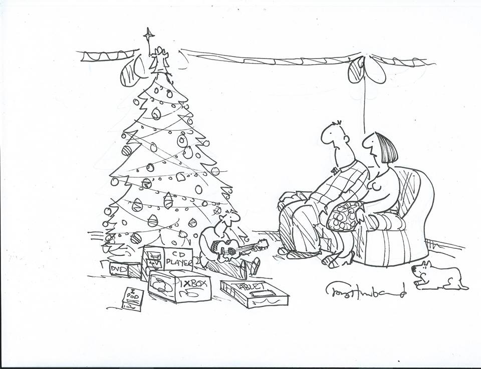 Tony Husband Ukulele Christmas Cartoon