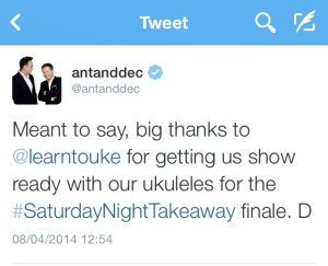 Ant and Dec testimonial