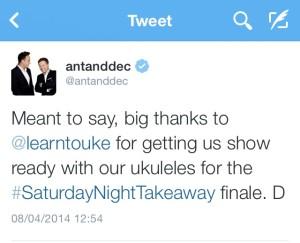 Ant and Dec testimonial