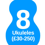 8 ukuleles