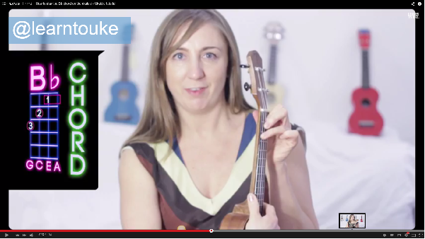How To Play The A A Sharp Or Bb B Flat Chord On The Ukulele